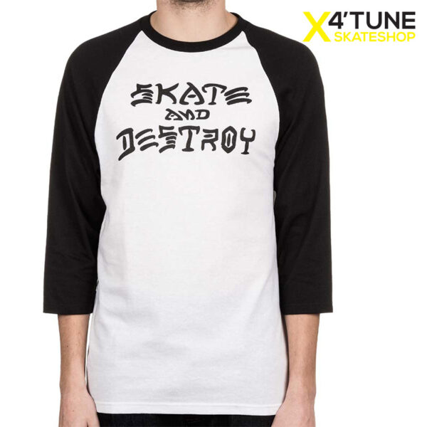 thrasher skate and destroy siyah raglan