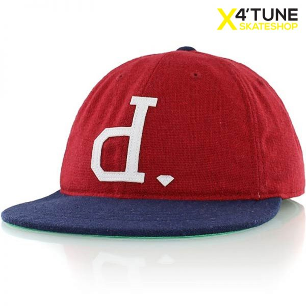 DIAMOND SUPPLY CO UN POLO FITTED CAP – RED